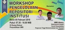 WORKSHOP PENGELOLAAN REPOSITORY INSTITUSI