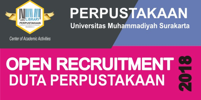 OPEN RECRUITMENT DUTA PERPUSTAKAAN TAHUN 2018