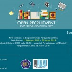 Open Recruitment,Duta Perpustakaan UMS 2019