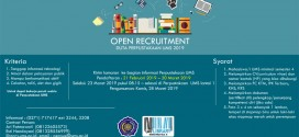 Open Recruitment Duta Perpustakaan UMS 2019